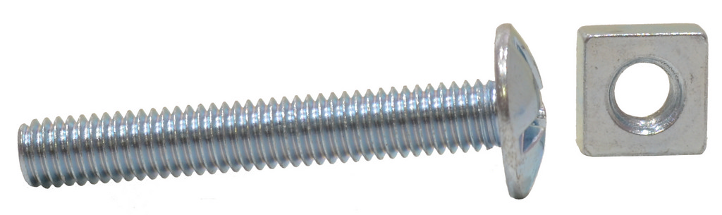 M6 x 40 mm Zinc Plated Roofing Bolts