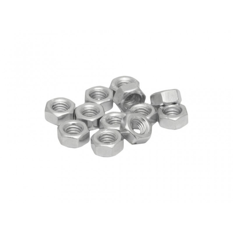 M5 Zinc Plated Steel Hex Nuts Packet of 50
