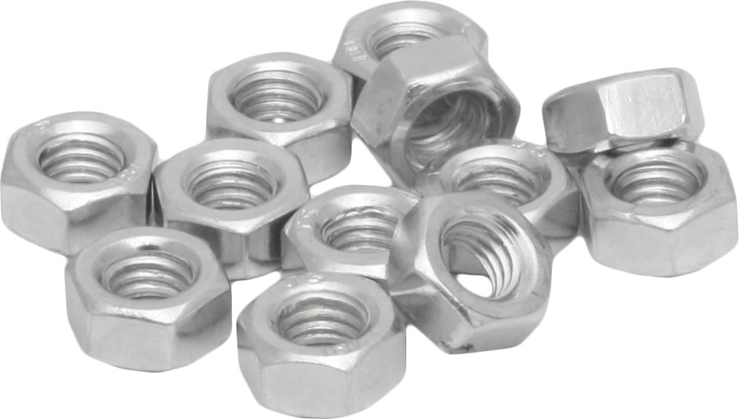 M6 Zinc Plated Steel Hex Nuts Packet of 20