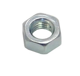 M12 Zinc Plated Steel Hex Nuts Packet of 4