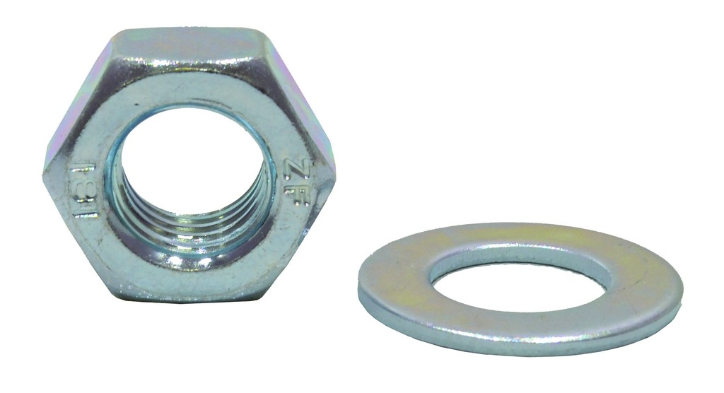 M12 Zinc Plated Nuts and Washers Packet of 5