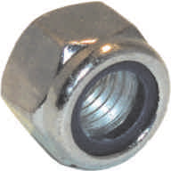 M6 Zinc Plated Nylon Locking Nuts Packet of 4