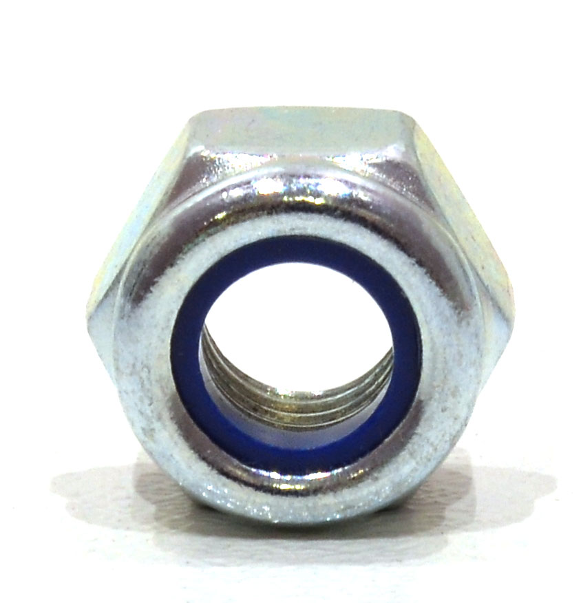 M8 Zinc Plated Nylon Locking Nuts