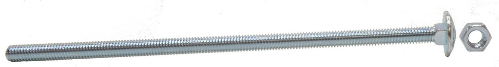 M6 x 100 mm Zinc Plated Small Carriage Bolts and Nuts