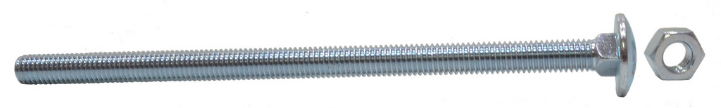 M6 x 150 mm Zinc Plated Small Carriage Bolts and Nuts