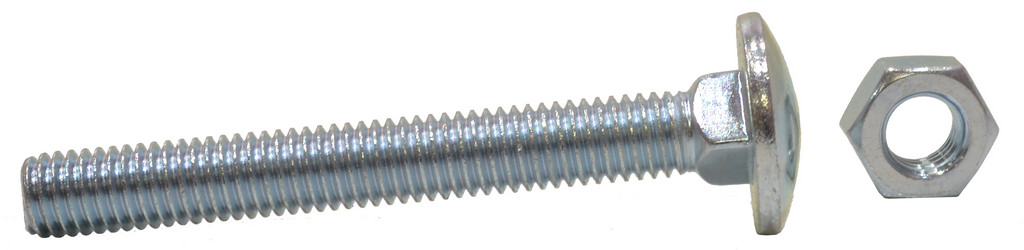 M8 x 75 mm Zinc Plated Small Carriage Bolts and Nuts