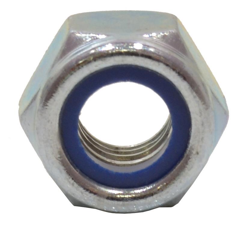 M10 Zinc Plated Nylon Locking Nuts