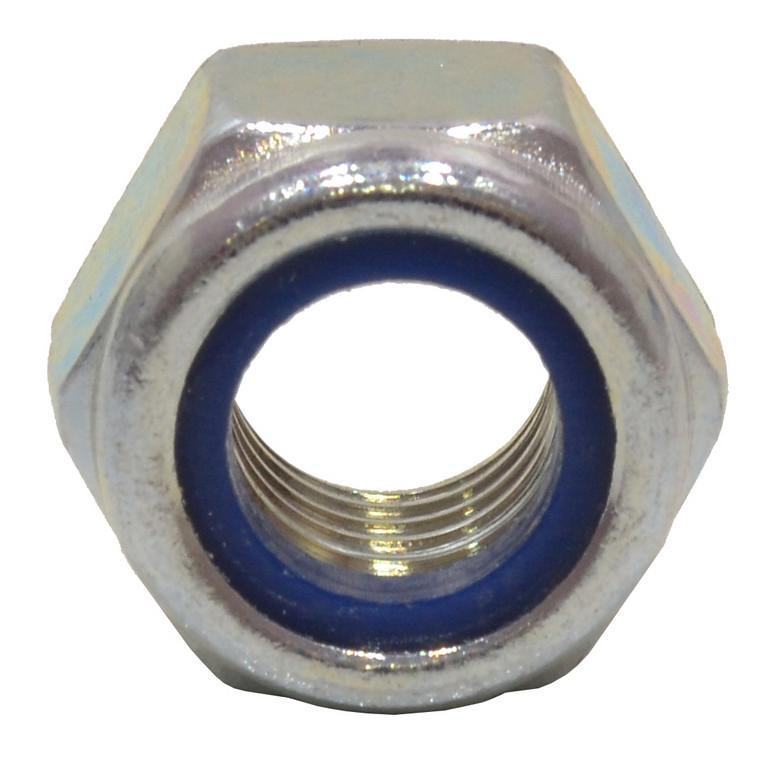 M12 Zinc Plated Nylon Locking Nuts