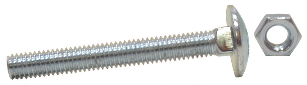M6 x 40 mm Zinc Plated Small Carriage Bolts and Nuts