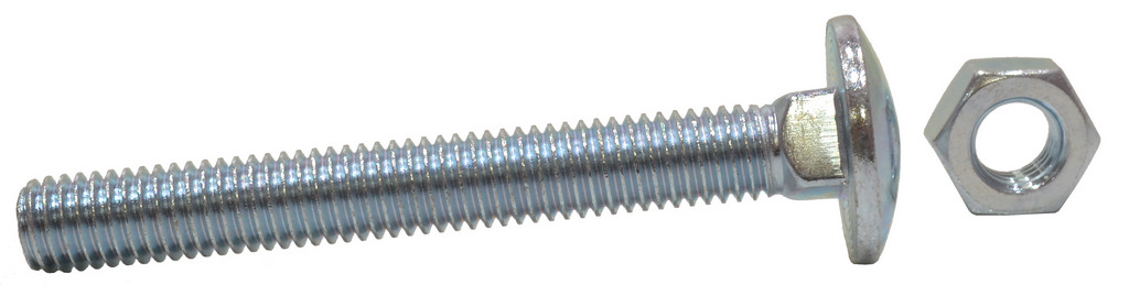 M8 x 65 mm Zinc Plated Small Carriage Bolts and Nuts