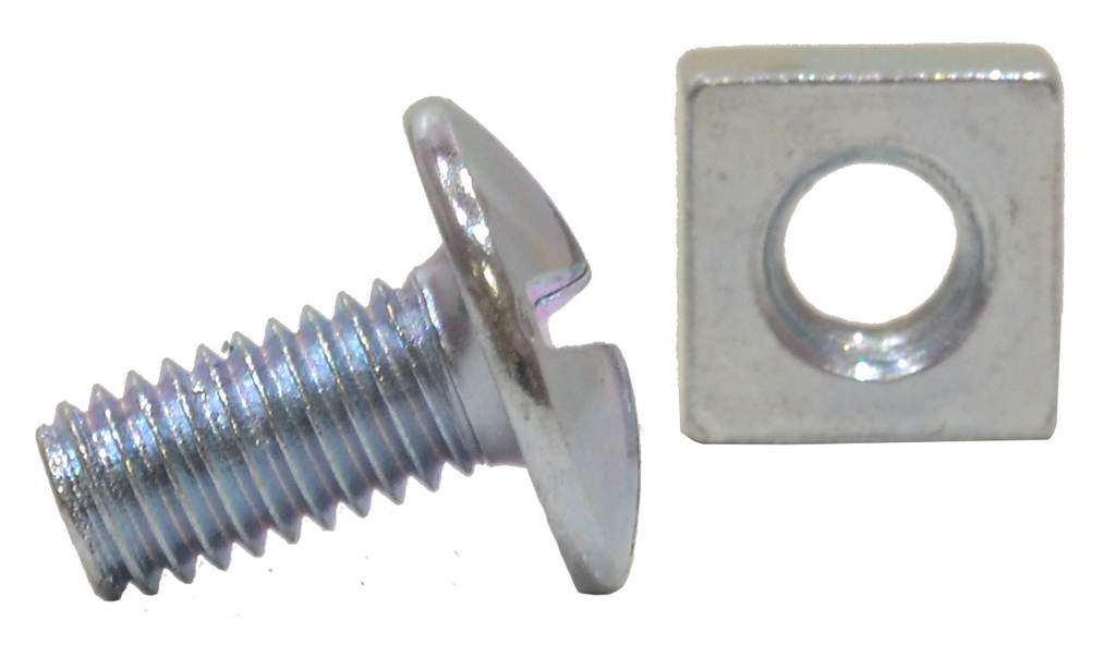 M6 x 12 mm Zinc Plated Roofing Bolts