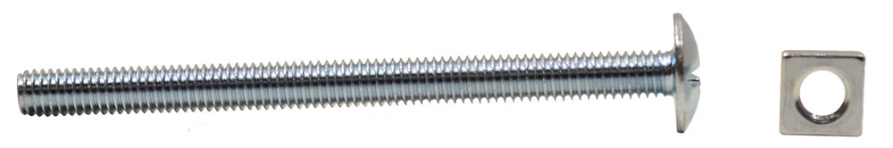 M6 x 80 mm Zinc Plated Roofing Bolts