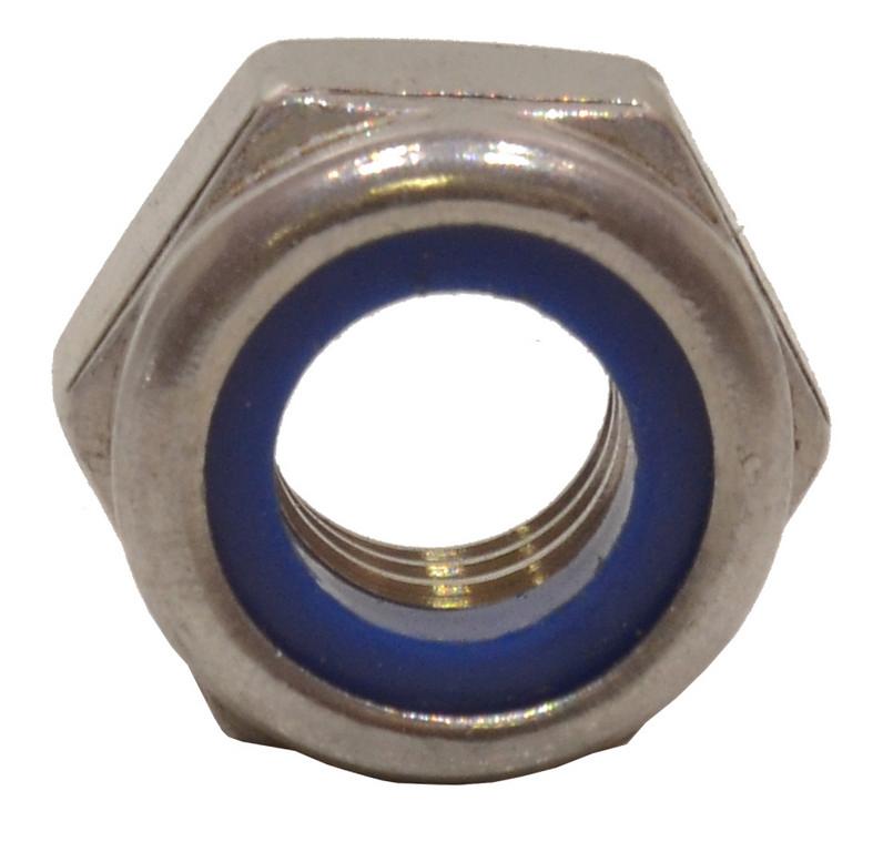 M10 Stainless Steel Nylon Locking Nuts