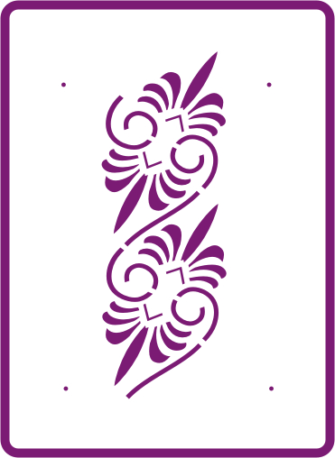 UK Harmony Standard Stencils Decorative Stencils