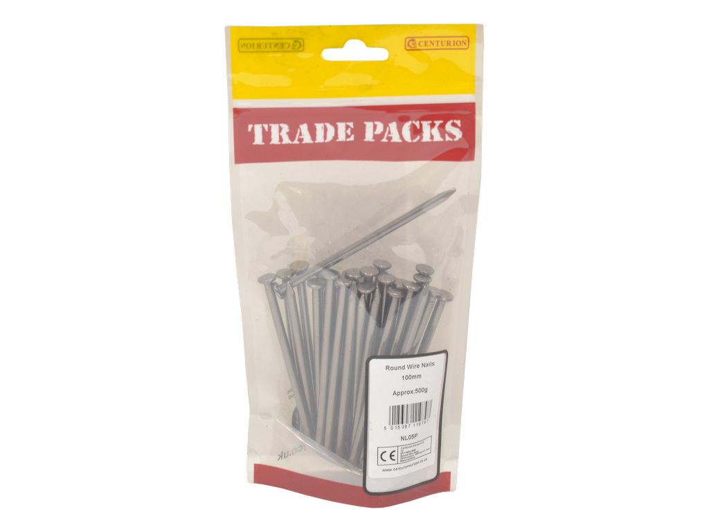 UK Round Wire Nails Bright