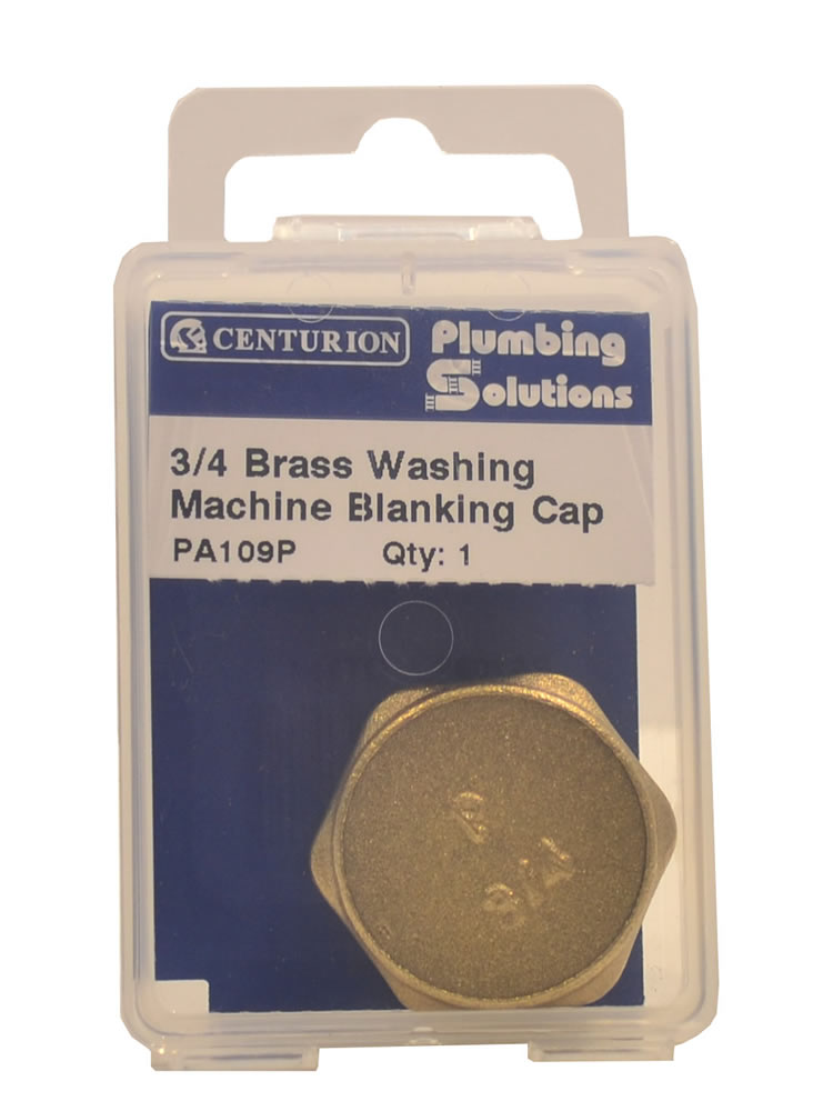 3 / 4 inch Brass Washing Machine Blanking Cap sign