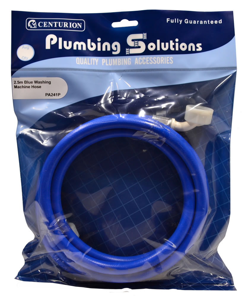 2.5 metres Blue Washing Machine Hose sign