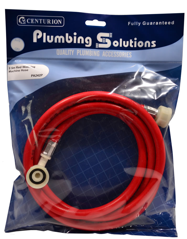 2.5 metres Red Washing Machine Hose sign