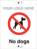 No Dogs sign.