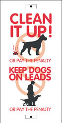 clean it up/keep dogs on leads sign.