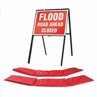 2 x HydroSnake Barriers - 1 x Stanchion Sign