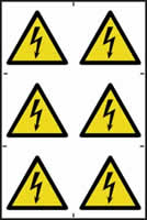 Electrical Hazard symbols - PVC 200 x 300 mm sign made from 1mm rigid PVC