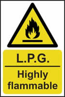 LPG Highly flammable - s/a vinyl - 400 x 600mm