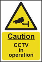 Caution CCTV in operation - s/a vinyl - 200 x 300mm