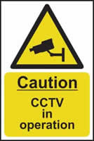 Caution CCTV in operation - s/a vinyl - 400 x 600mm