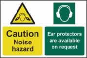 Caution Noise hazard Ear protectors are available on request - 1mm rigid pvc 200 x 300mm