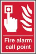 Fire alarm call point - rigid plastic sign - 300 x 400mm