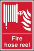 Fire hose reel sign 1mm rigid plastic 300 x 400mm
