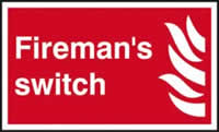 Firemans switch self-adhesive vinyl 250 x 150mm