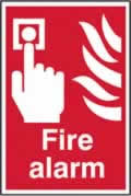 Fire alarm sign 1mm rigid plastic 200 x 300mm