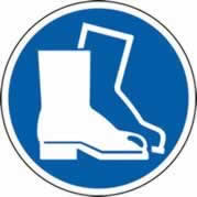 400 mm diameter Safety Boots Symbol Floor Graphic