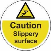 400 mm diameter Caution Slippery surface Floor Graphic