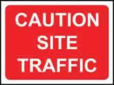 600 x 450 mm �Temporary Sign - Caution Site traffic