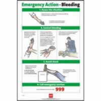 RoSPA Safety Poster - Emergency Action Bleeding Laminated