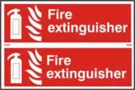 Fire extinguisher - 1mm rigid pvc 300 x 200 mm