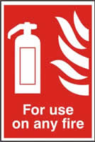 For use on any fire sign 1mm rigid PVC self-adhesive backing 200 x 300mm
