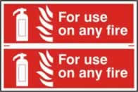 For use on any fire sign 1mm rigid PVC self-adhesive backing 300 x 200mm