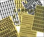 Magnetic Number Set - 17 mm Yellow made from Magnetic