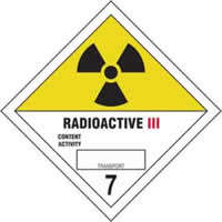 Radioactive III 7 - s/a vinyl - Diamond 200 x 200mm label made from self-adhesive vinyl