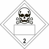 Skull 2 Symbol - s/a vinyl - Placard 250 x 250mm label made from self-adhesive vinyl