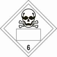 Skull 6 Symbol - s/a vinyl - Placard 250 x 250mm label made from self-adhesive vinyl