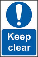 Keep clear self-adhesive vinyl 150 x 200mm