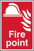 Fire point self-adhesive vinyl 200 x 300mm