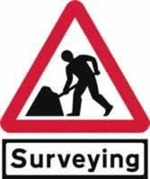 Road works & Surveying Supplied plate - Classic Roll up traffic sign 750 mm Triangle Triflex roll up sign