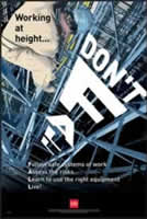 RoSPA Safety Poster - Dont fall - laminated