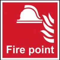 Fire point - s/a vinyl - 200 x 200mm